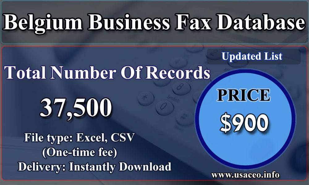 Belgium Business Fax Database