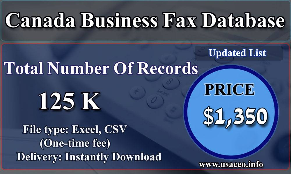 Canada Business Fax Database