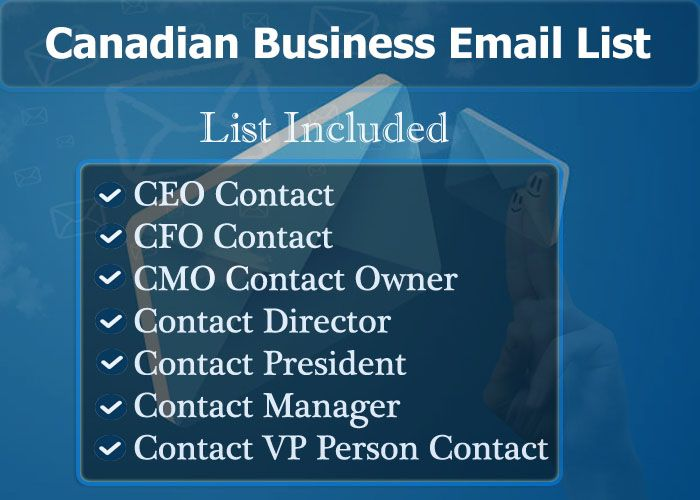 Canadian Business Email List