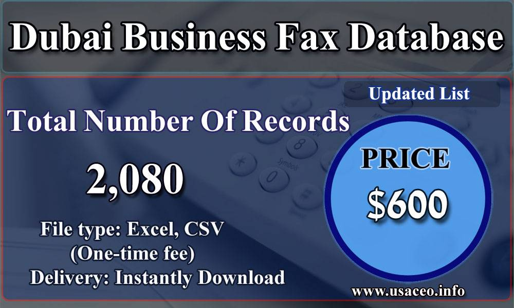 Dubai Business Fax Database