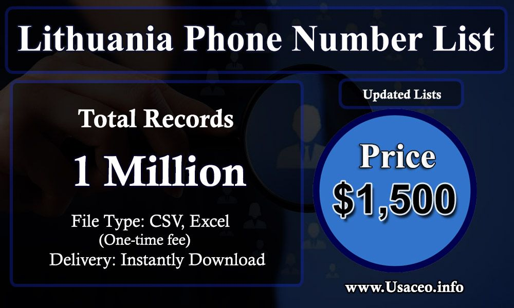Lithuania Phone Number List