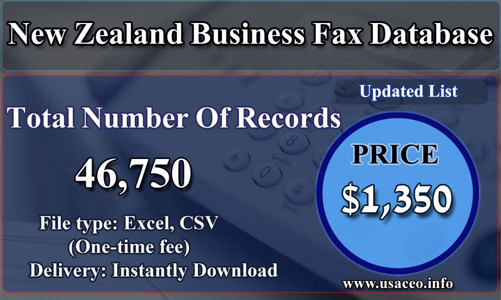 New Zealand Business Fax Database