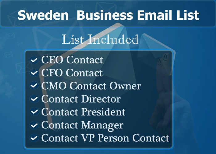 Sweden Business Email List