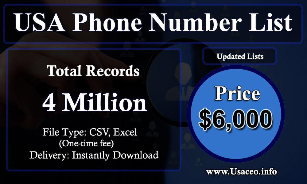 USA Phone Number List