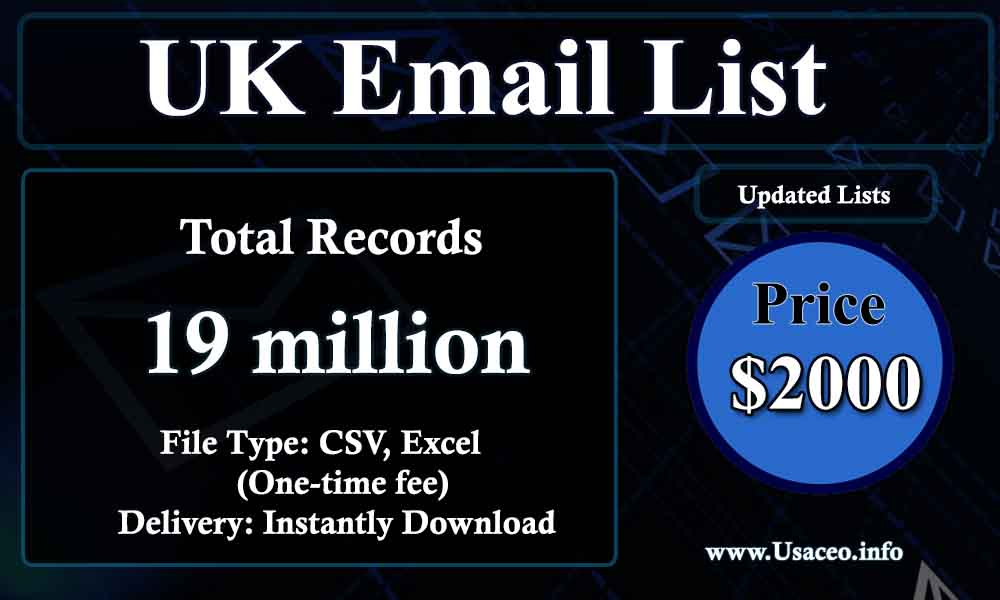 UK Email Lists