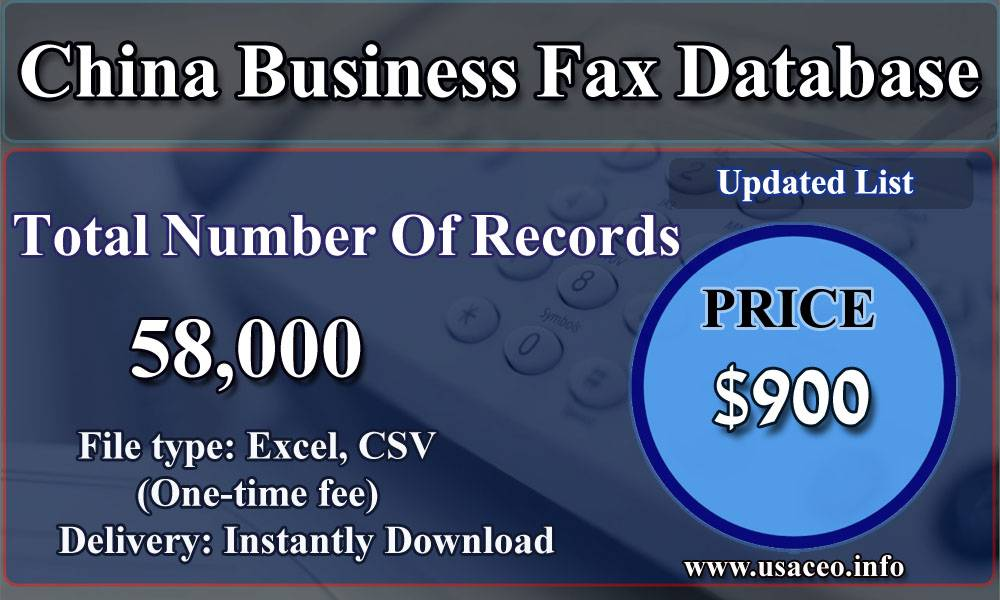 China Business Fax Database