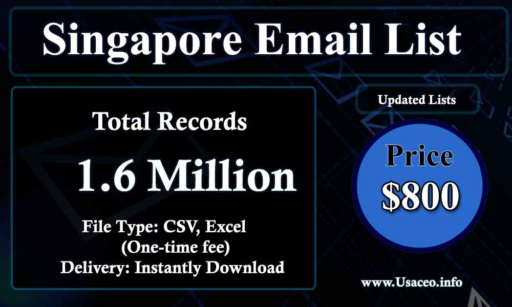 Singapore Email Lists